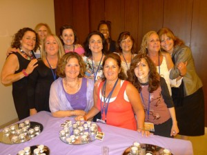 Shabbat group with candles