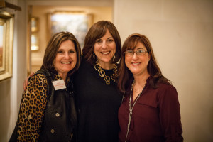 Ellie, Lori & Mimi at JWRP dessert reception at the home of Marilyn & Sam Fox.