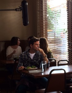 Matthew Settle in the diner