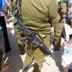 Young Israeli soldiers carry these guns 24-7, like our kids do their iPhones.