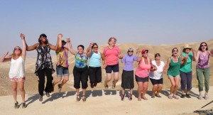 "Jumping for ""oy"" in the dessert."