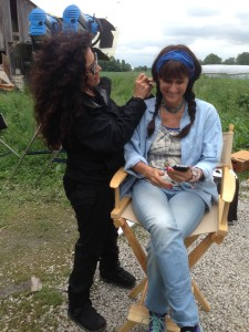 cyndi in wig for hoarder scene