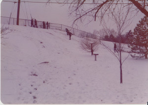 kids on snow hill