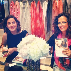 Eliza and Sil with book